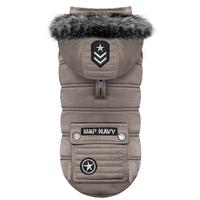 Manteau SPUTNYK TAUPE (idéal pour les Bouledogue et les Carlin)